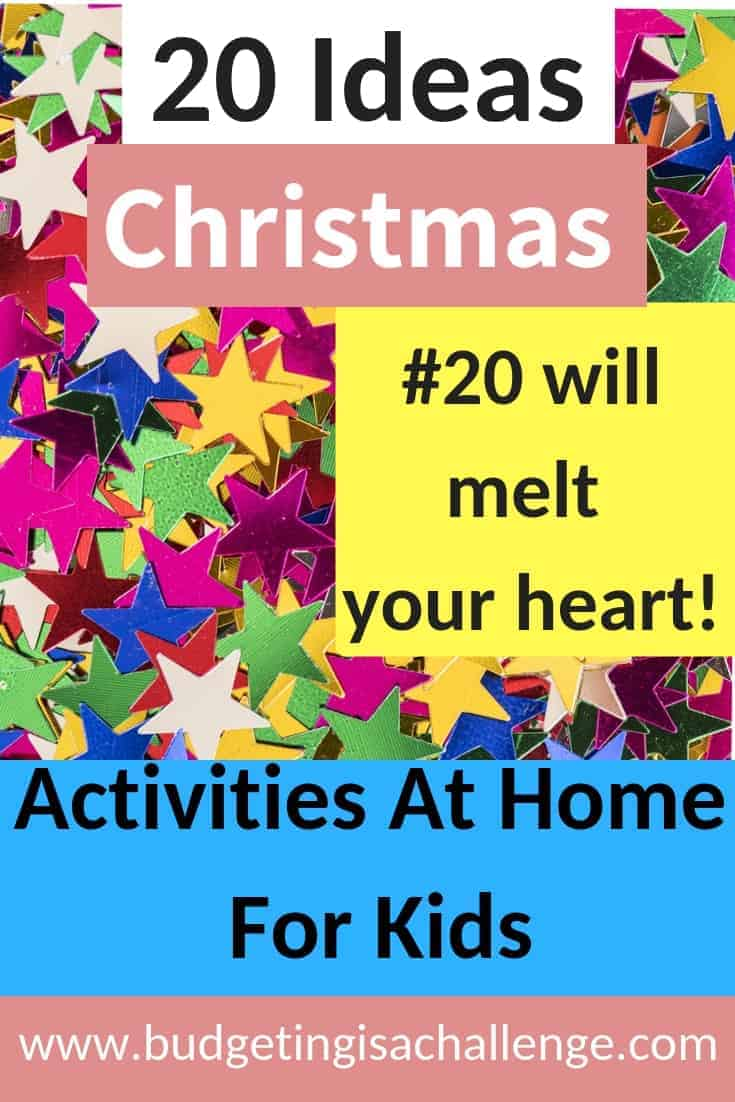 Christmas Activities at Home with Kids 20 ideas