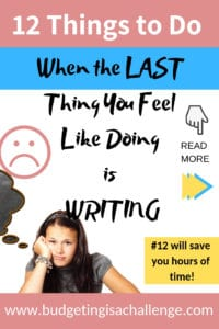 Do you ever feel like the last thing you want to do is  write your blog post? It happens to everyone from time to time. Read my 12 ideas for maintaining productivity on your blog when you don't feel like writing. #productivity #bloggingtips