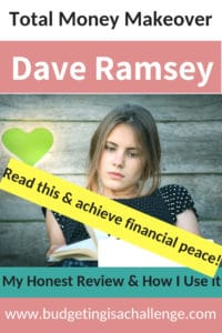 Are you looking for inspiration on how to get out of debt, create a budget that works for you and achieve financial peace? Read my review of Dave Ramsey's Total Money Makeover and how it is helping me with my personal money journey. #financialpeace #budgeting #daveramseysnowball