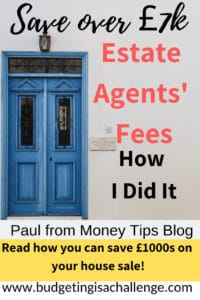 Want to save thousands on your house sale? Read how Paul, over at Money Tips blog saved over £7000 on his house sale using Doorsteps estate agents. #doorsteps #realestate #estateagent #savemoneyonagentsfees
