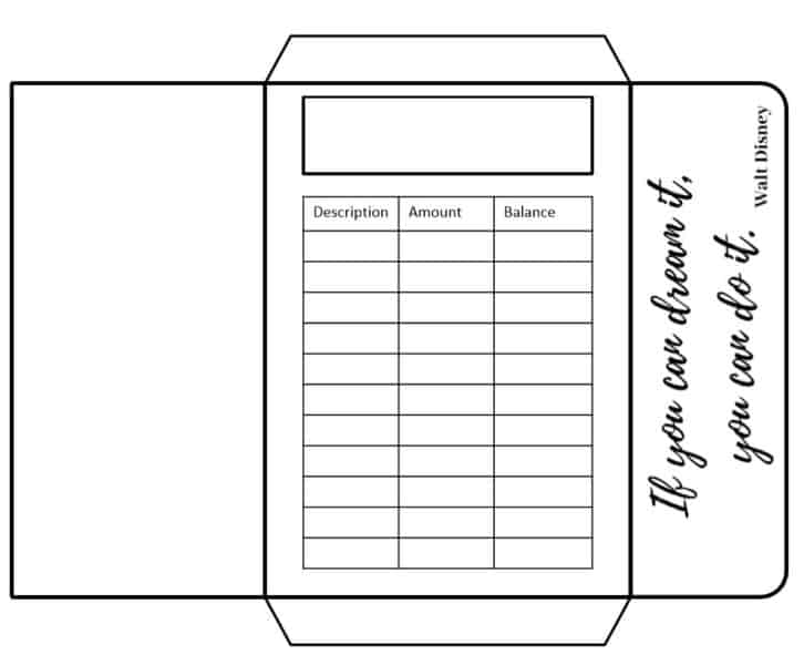 photograph about Disney Printable Envelopes named Funds Envelopes Printable Archives - Budgeting is a Dilemma