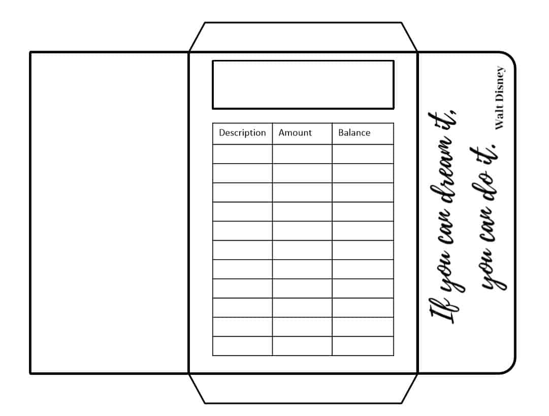 picture about Disney Printable Envelopes identify Dollars Envelopes Inspiring Estimates Structure (Printable) - Budgeting is a Issue