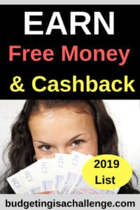 Are you keen to earn free money? Read my Free Money and Cashback list for 2019! Earn more cashback for your monthly household spend today! Regularly updated to give the you the latest deals.