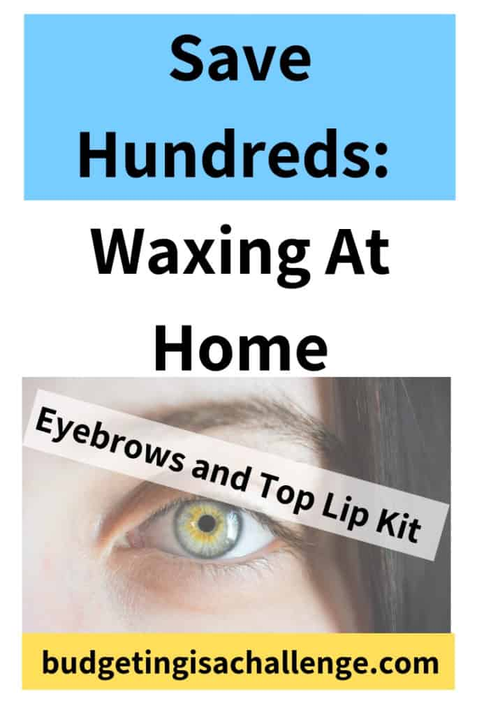 Are you wondering whether it's possible to save money by waxing at home? Do you hate having to hand over your hard earned cash? Read my guide to how I do it and what kit I use. #waxingathome #upperlipwax #eyebrowwax #facialhair