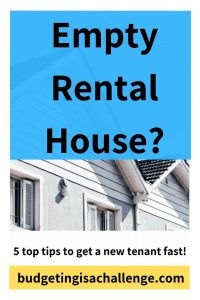 Has your rental property become vacant? Read my 5 top tips for how to reduce tenant void periods and get a new tenant quickly.