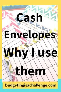 Colourful printable cash envelopes