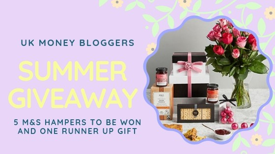 UK Money Bloggers Summer Giveaway showing a hamper