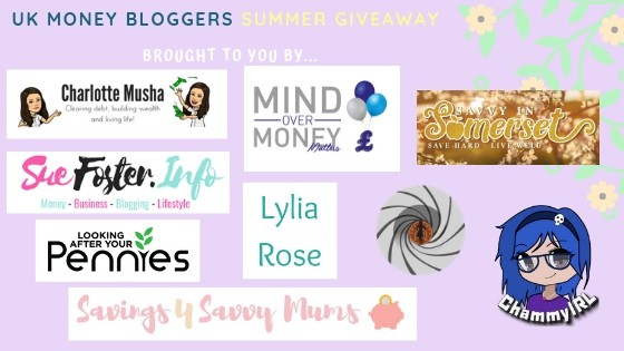 UK Money Bloggers Summer Giveaway showing some of the UK money bloggers' logos