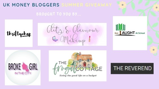 UK Money Bloggers Summer Giveaway showing some of the UK money bloggers or logos