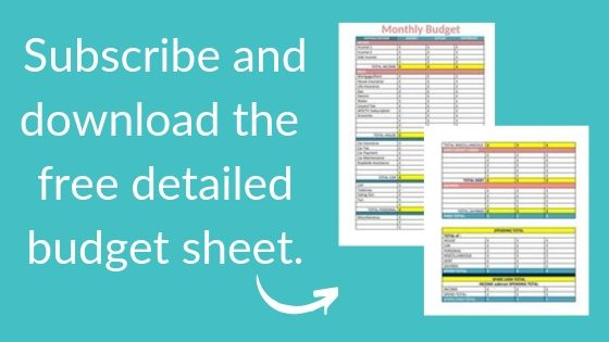 Do you need a household budget sheet? Subscribe and download a free version from budgeting is a challenge