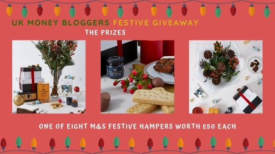 Win one of these stunning hampers courtesy of the UK money bloggers! Enter for free!! #competition #hamper #freebie #free #christmascompetition