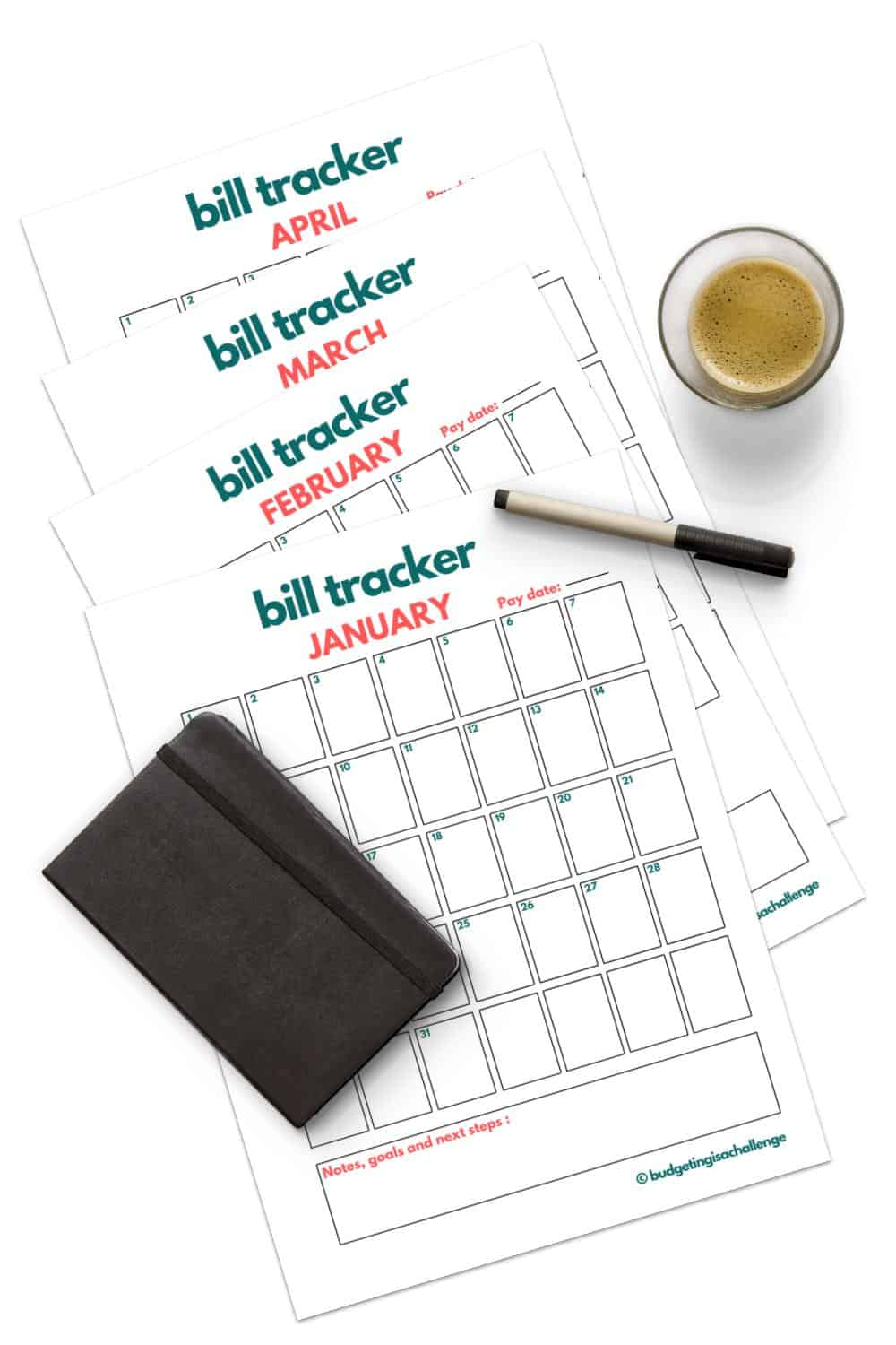 Do you need to track your monthly expenses? Save money with my monthly bill tracker.