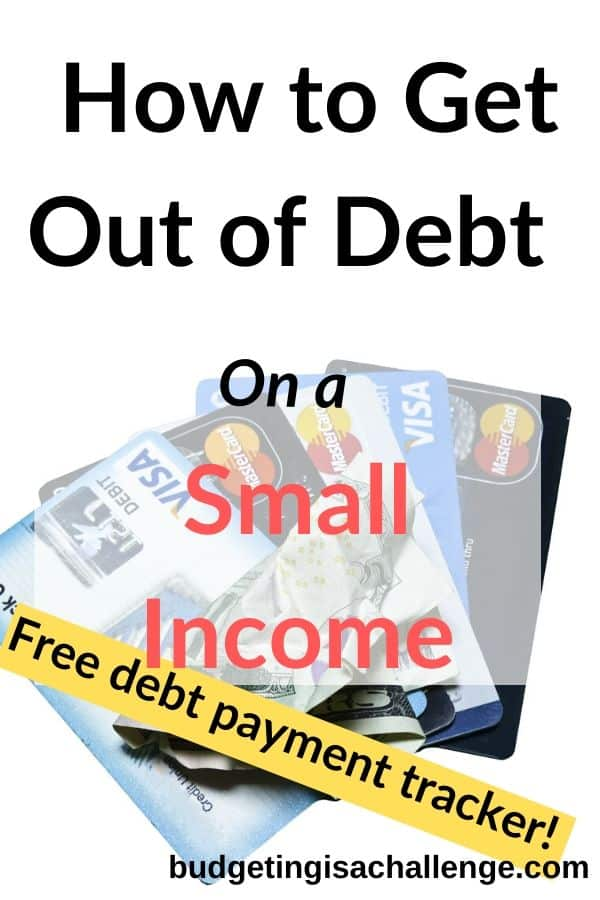 Do you want to debt free? Fiona from over at misspennymoney goes through the first steps to debt payoff on a small income #debt #debtpayoff #getoutofdebt #debtfree #debtfreetracker