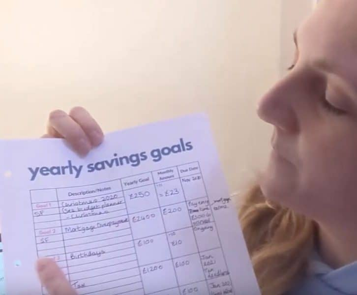 Sinking funds what are they and what is the difference compared to savings goals? I demonstrate my process to get my savings goals ready for 2020. My use of a sinking funds and savings goal tracker and sinking funds envelopes. #sinkingfunds #sinkingfund #sinkingfundenvelopes #sinkingfundsheet