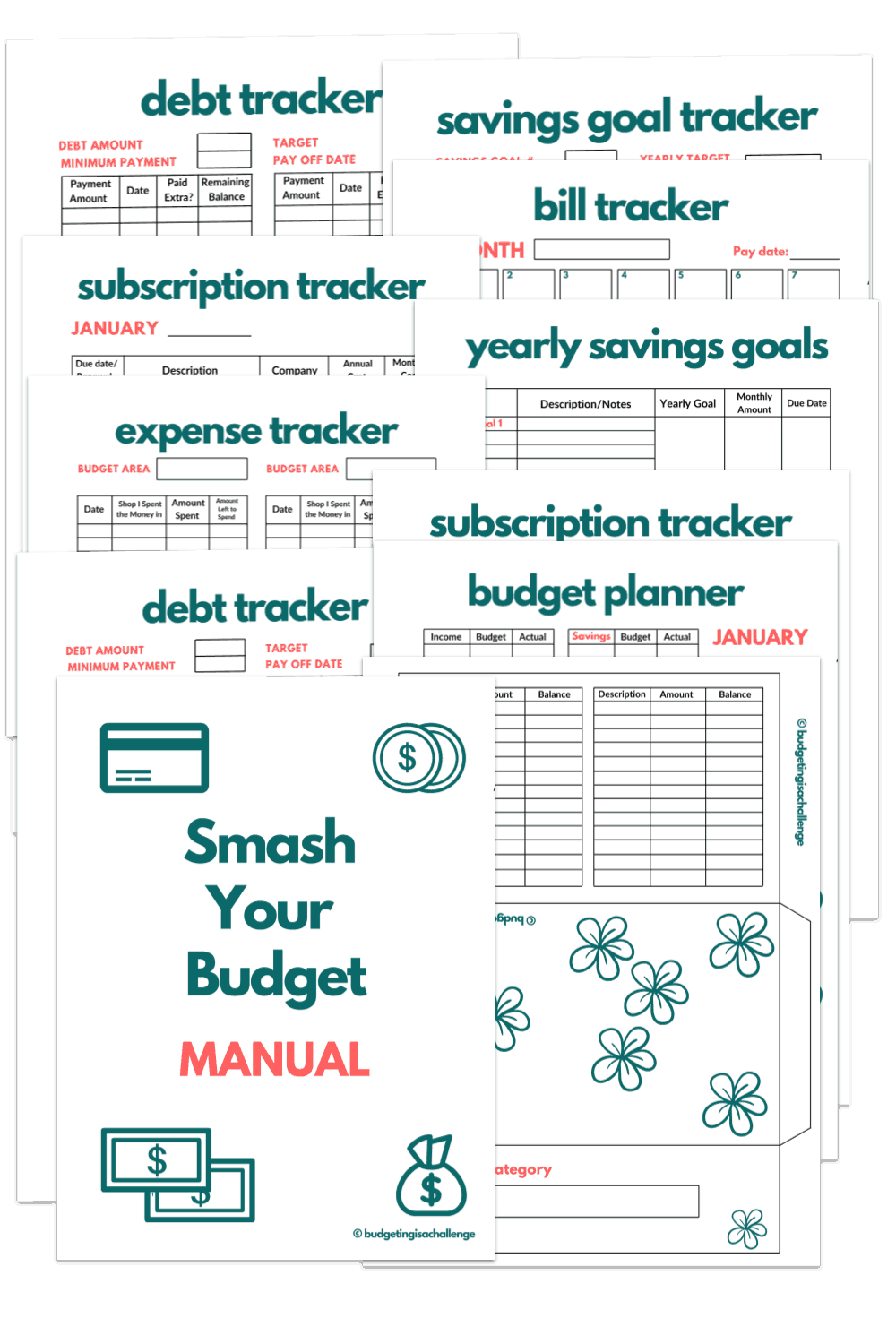Do you need a simple budget planner? Save more money, get out of debt quicker and feel in control of where your money goes!