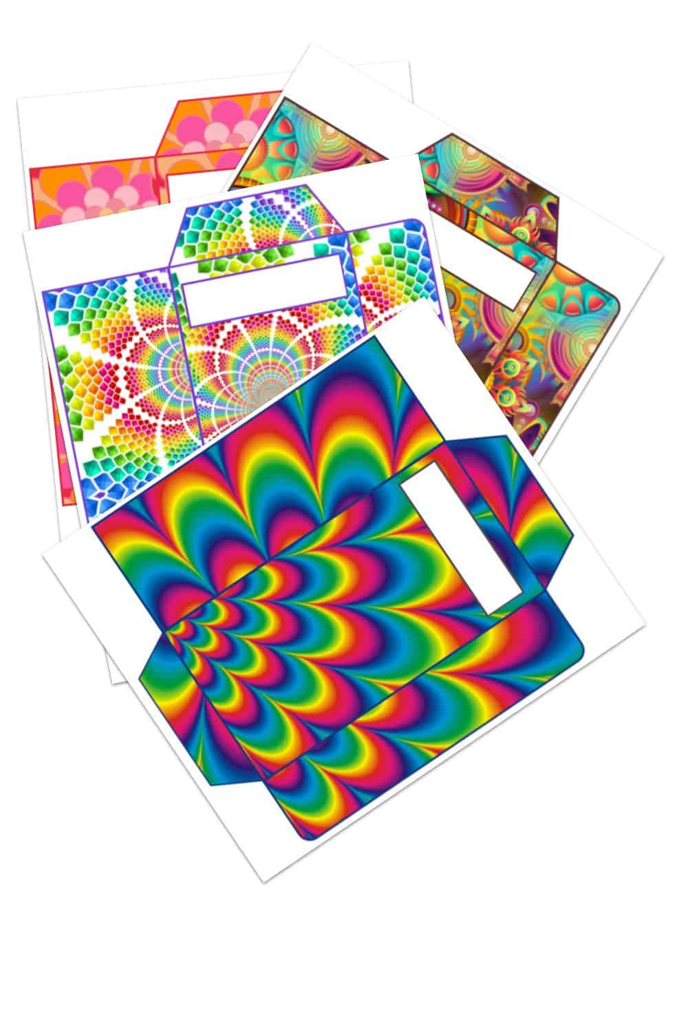 Download my cute abstract savings or cash envelopes today.