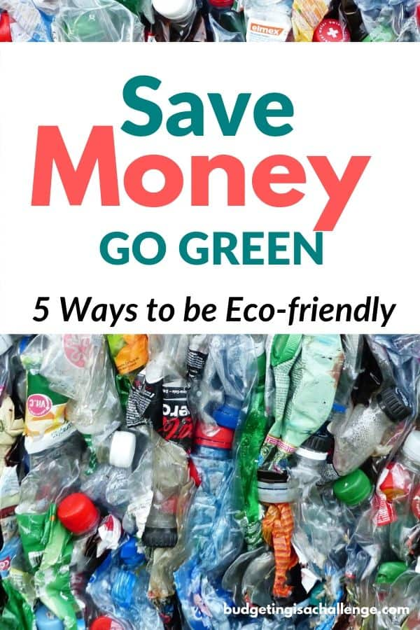 Want to go green and save money? 5 Actionable tips to be more eco-friendly for busy families #eco #gogreen #eco-friendlylifestyle #eco-friendly #savemore #sustainability #gogreenathome