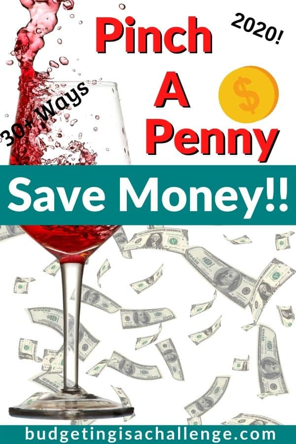 Do you need ideas for pinching a penny and saving more? Read my 30 + ideas for how to penny pinch the maximum amount of cash every single month! #savemore #budgeting #cashbudget #savethepennies