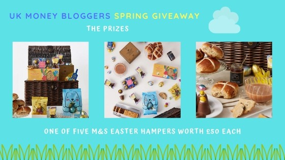 Enter now and win one of 5 M and S Easter Hampers in time for Easter! Brought to you by the UK Money Bloggers. #giveaway #competition #freebie #freebies #eastercompetition