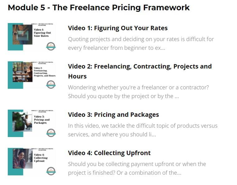 fired up freelance module 5 details