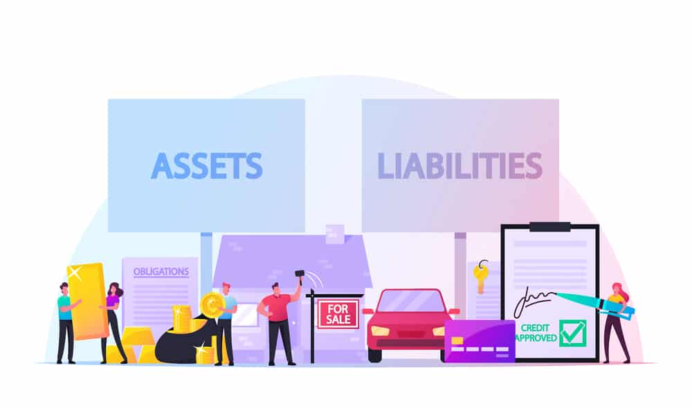 Graphic depicting assets and liabilities