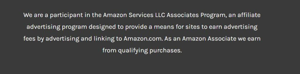 an affiliate disclosure if you are recommending products via amazon is part of the terms and conditions.