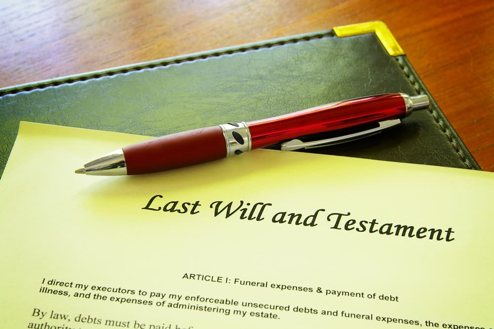 Image of Last Will and Testament in Emergency Binder